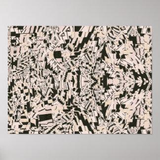 Het abstracte Poster van de Collage van de