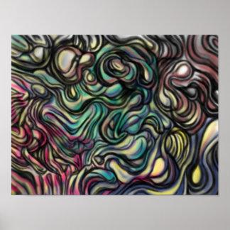"""Het abstracte poster van de lucht """"van de Vlek"""""""