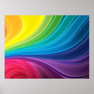 Het abstracte Poster van de Regenboog