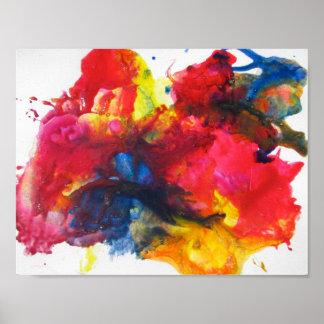 Het abstracte schilderen poster