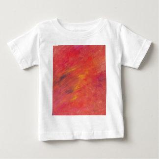 Het Abstracte Schilderen van Acryllic in Rood - Baby T Shirts