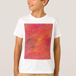 Het Abstracte Schilderen van Acryllic in Rood - T Shirt