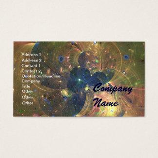Het Abstracte Schilderen van de kosmische ruimte, Visitekaartjes