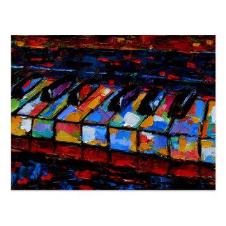 Het Abstracte Schilderen van de piano Briefkaart
