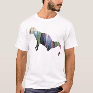 Het abstracte silhouet van de Mongoes T Shirt