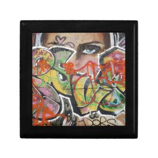 het abstracte van het de muurschilderingsoort vierkant opbergdoosje small