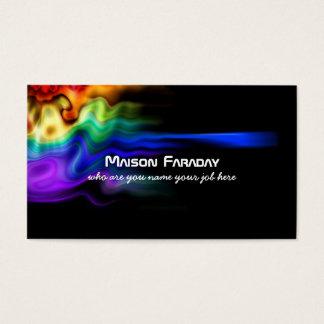 het abstracte visitekaartje van de kleurenplons visitekaartjes