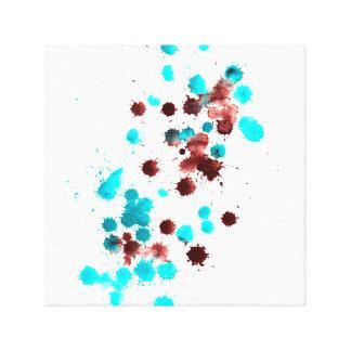 Het abstracte vormen canvas afdrukken