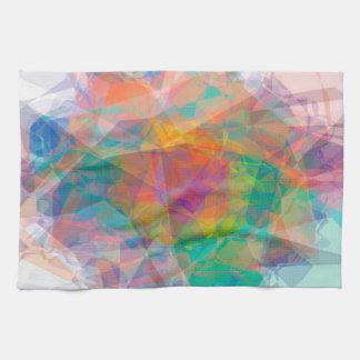 Het abstracte Wit van het Patroon van de Kleur op Theedoeken