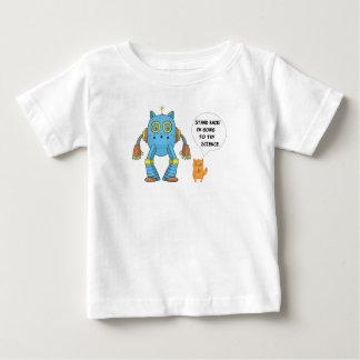 Het Achter Gaan van de tribune Kat van de Robot Baby T Shirts