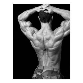 Het AchterBriefkaart van de bodybuilder Briefkaart