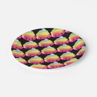 Het Achterschip Emoji van de regenboog Papieren Bordje