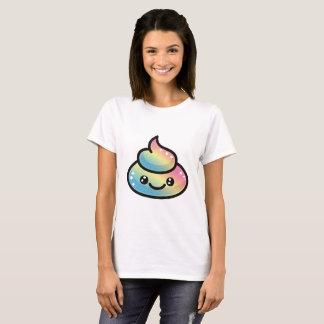 Het Achterschip Emoji van de regenboog T Shirt