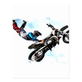 het acrobatische de sport van de motorfietsfietser briefkaart