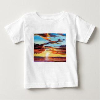 Het Acryl Schilderen van de zonsondergang Baby T Shirts