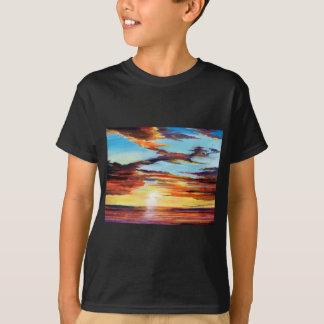 Het Acryl Schilderen van de zonsondergang T Shirt