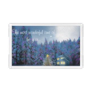 """Het AcrylDienblad van Kerstmis """"van de Vrede"""" Acryl Dienblad"""