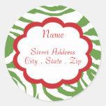 Het Adres Lables van Kerstmis van de heup Ronde Stickers