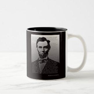 Het Adres van Abraham Lincoln Gettysburg Tweekleurige Koffiemok