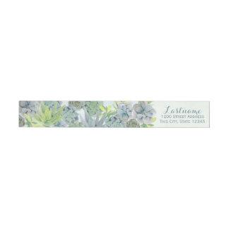 Het Adres van het Huwelijk van Succulents van de