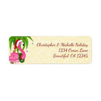 Het Adres van Kerstmis van het Strand van de Palm Etiket