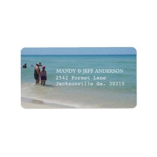 Het Adresetiket van de Dagen van het strand Etiket