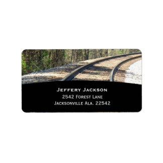 Het Adresetiket van de spoorweg Etiket