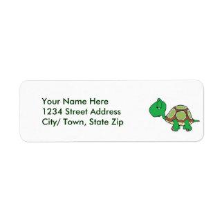 Het Adresetiket van de Terugkeer van de schildpad Etiket
