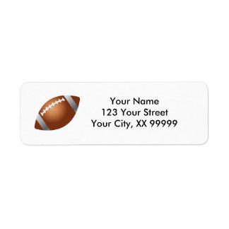 Het Adresetiket van het football Etiket