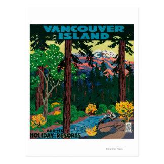 Het Adverterene Poster van Vancouver Eiland Briefkaart