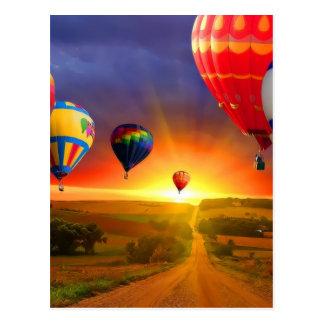 het afbeelding van de hete luchtballon wenskaart