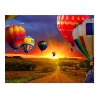 het afbeelding van de hete luchtballon briefkaart