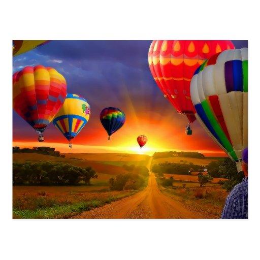 het afbeelding van de hete luchtballon wenskaarten