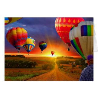 het afbeelding van de hete luchtballon kaarten