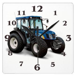 Het afbeelding van de tractor voor vierkante klok