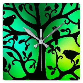 Het afbeelding van de vogel voor vierkante klok