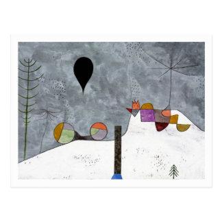 Het Afbeelding van de winter door Paul Klee Briefkaart