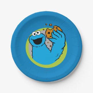 Het Afbeelding van het Monster van het koekje Papieren Bordje