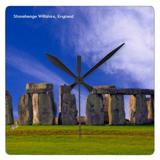 Het afbeelding van Stonehenge voor de Ronde Grote Vierkante Klok