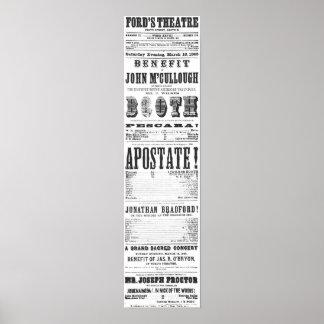 Het Affiche van John Wilkes Booth Poster