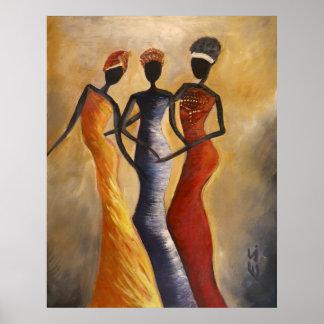 Het Afrikaanse Amerikaanse afbeelding van de Kunst Poster