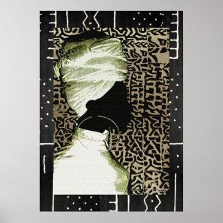 Het Afrikaanse Art. van de Ziel Poster