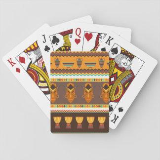 Het Afrikaanse Ontwerp van de Druk van het Patroon Speelkaarten