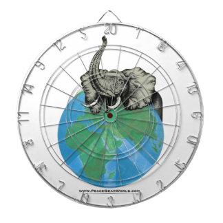 Het Afrikaanse ontwerp van de Vrede van de Olifant Dartbord