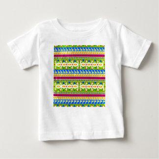 Het Afrikaanse patroon van de Eenhoorn Baby T Shirts