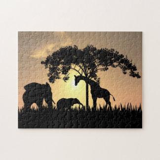 Het Afrikaanse Raadsel van de Safari Puzzel