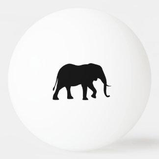 Het Afrikaanse Silhouet van de Olifant Pingpongbal