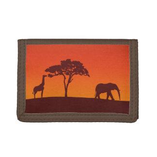 Het Afrikaanse Silhouet van de Safari -
