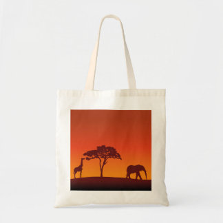 Het Afrikaanse Silhouet van de Safari - het Bolsa Draagtas