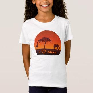 Het Afrikaanse Silhouet van de Safari - het T Shirt